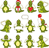 Vector clipart: Dragon Set