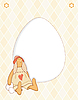 Vector clipart: Easter Rabbit Card