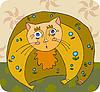 Vector clipart: Fat Cat