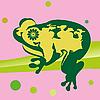 Vector clipart: Frog on Leaf
