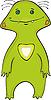 Векторный клипарт: Зеленый монстр