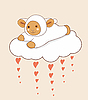 Vector clipart: Lamb and Cloud with Hearts