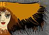 Vector clipart: Girl Face Hair Banner