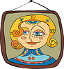 Vector clipart: Girl Portret Picture