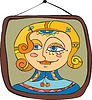 Векторный клипарт: Изображение девушки Портрет