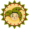 Vector clipart: Jester Face Sign