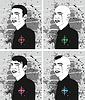 Векторный клипарт: Человек Стрижка лица набор