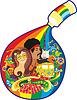 Vector clipart: Tube Paint Rainbow
