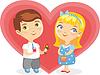 Vector clipart: Girl Boy Heart