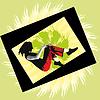 Mädchen im Sprung | Stock Vektrografik