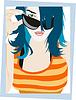 Vector clipart: Girl in sunglasses