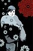 Vector clipart: Girl Winter Night