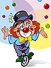 Vector clipart: clown juggler