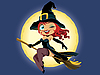 Vector clipart: Halloween witch