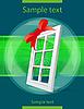 Vector clipart: plastic window