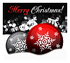 Vector clipart: Background with Christmas balls,
