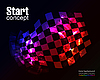 Vector clipart: Checkered Background
