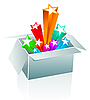 Vector clipart: Gift box surprise - entertainment