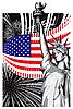 Векторный клипарт: Америка