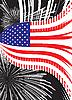Векторный клипарт: США флаг