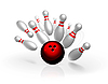 Vector clipart: Bowling strike