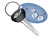 Vector clipart: remote control car key