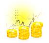 Векторный клипарт: бизнес граф с монетами