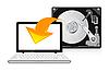 Векторный клипарт: значке жесткого диска