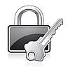 Векторный клипарт: висячий замок и ключ