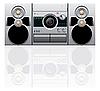 Векторный клипарт: CD и кассетный проигрыватель