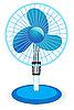 Векторный клипарт: настольный вентилятор -