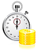 Vector clipart: Time is money concept