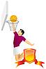 Векторный клипарт: Баскетболист