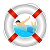 Vector clipart: lifeguards