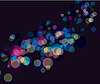Vector clipart: Multi color bokeh lights background
