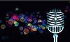 Векторный клипарт: Абстрактный фары с mickrophone