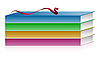 Векторный клипарт: иллюстрации книг с лентой