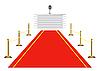 Векторный клипарт: Красная ковровая дорожка к трибуне