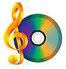 Компакт-диск с музыкой отмечает,