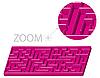 Векторный клипарт: Лабиринт в 3D стиле мультяшный