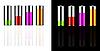 Векторный клипарт: Аккумулятор с различными нагрузками и цветов