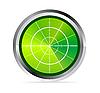 Векторный клипарт: экран радара или осциллографа