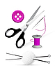 Vector clipart: Items for knitting and sewing