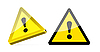 Vector clipart: triangular warning sign background