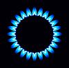 Flammen der Gas-