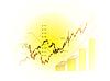 Векторный клипарт: Диаграмма фондовому рынку