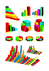 Vector clipart: set of shiny graphics and diagrams