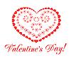 Векторный клипарт: Валентина день фон с сердцем