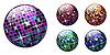 Векторный клипарт: набор дискошаров