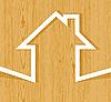 Векторный клипарт: Деревянные дома концепции